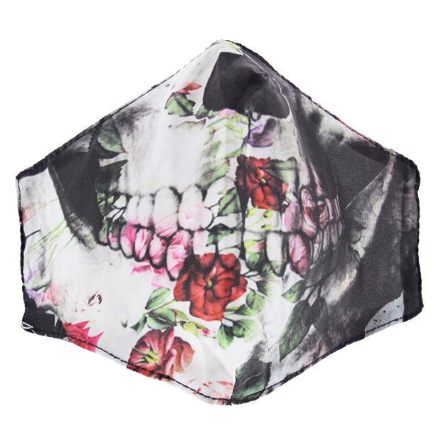 Floral Skull Cotton Face Mask