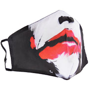 Red Clown Lips Cotton Face Mask