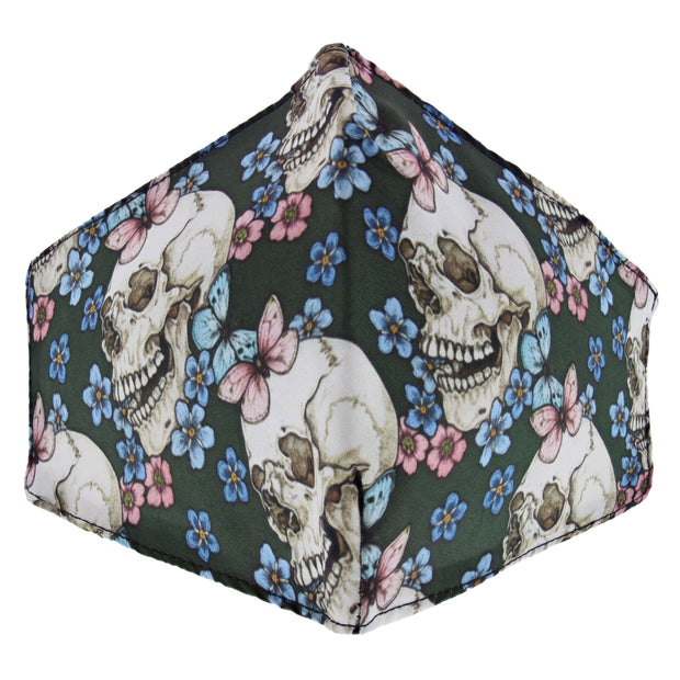 Multi Flower & Skull Cotton Face Mask