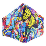 Multicolour Butterfly Print Cotton Face Mask