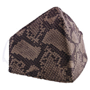 Snake Skin Soft Fabric Print Cotton Face Mask