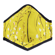 Yellow Floral Print Cotton Face Mask