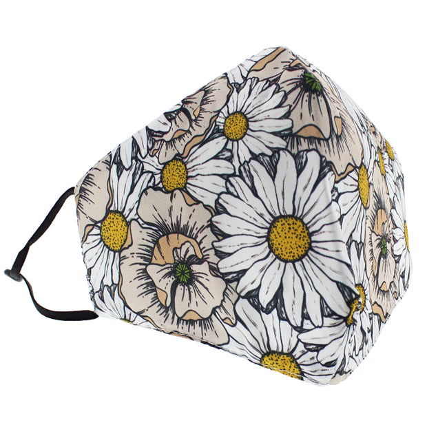 Daisy Print Cotton Face Mask
