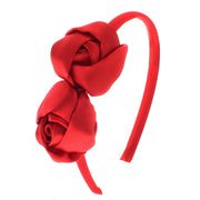 Satin Aliceband with Satin Twin Roses