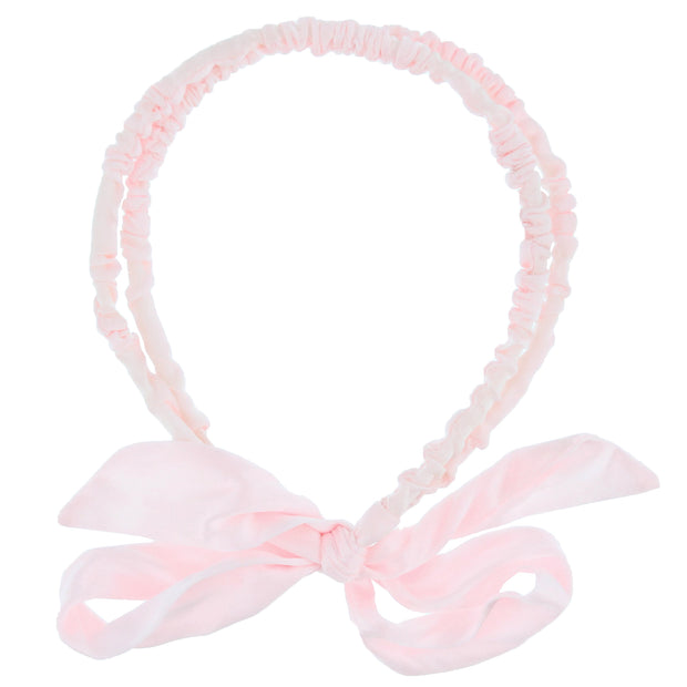 15mm Satin Frilly Double Aliceband with Bow