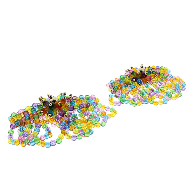 Multicolour Beaded Fun Shaped Hair Barrette - Style A