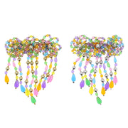 Multicolour Beaded Fun Shaped Hair Barrette - Style B