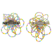 Multicolour Beaded Fun Shaped Hair Barrette - Style C