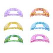 6cm Assorted Bright Marble AB Effect Mini Clamps