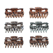6cm Assorted Leopard Print Clamps