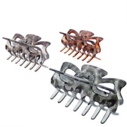 9cm Assorted Translucent Leopard Print Clamps