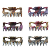 9cm Assorted Multi Autumnal Tone Striped Clamps