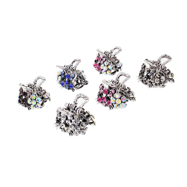 Assorted Stone Mini Cat & Flower Clips