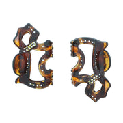 6cm Hologram Effect Dog Shape Clamps with Diamante Stones