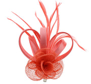 Fascinator on Clip & Brooch Pin
