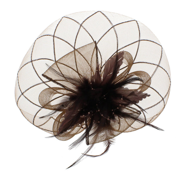 Black Fascinator On Concord Beak Clip Or Aliceband Diameter Approx. 22cm, Height Approx. 12cm