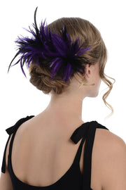 Alternative Two Tone Fascinator On Comb Diameter Approx. 24cm, Height Approx. 12cm