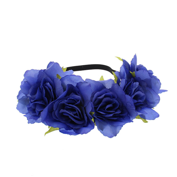 Very Large Rose Flower Elastic Headband