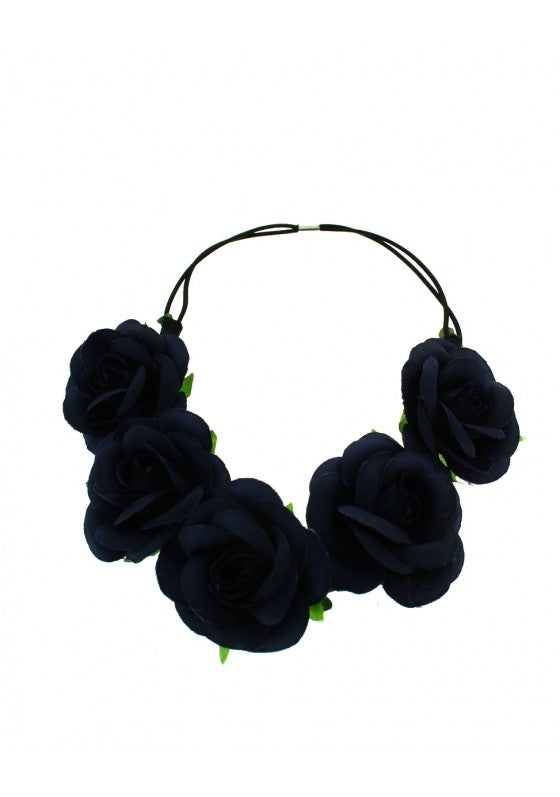 Rose Flower Elastic Headband