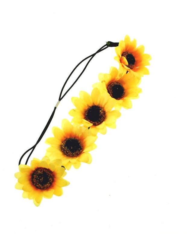 Sunflower Elastic Headband