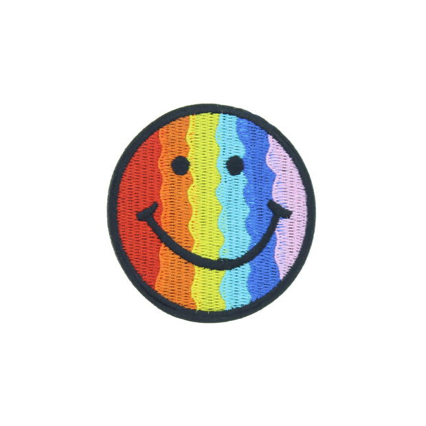 6.9cm Rainbow Smiley Face Patch
