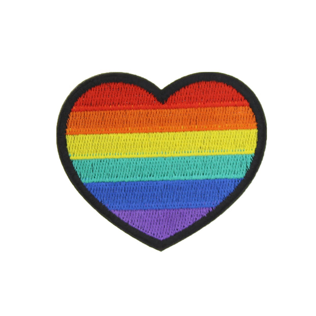 6.1 X 6.4cm Rainbow Heart Patch