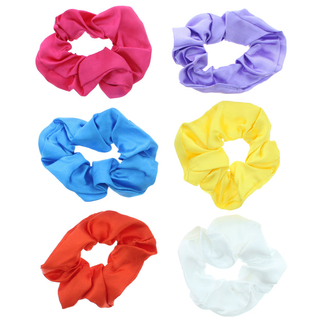 Assorted Bright Luxury Satin Scrunchies