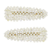 8cm Clear Stone Covered Hair Clips