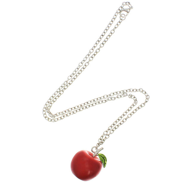 3D Apple Necklace on a 56cm Silver Chain (Aprox. 2.5cm Pendant)