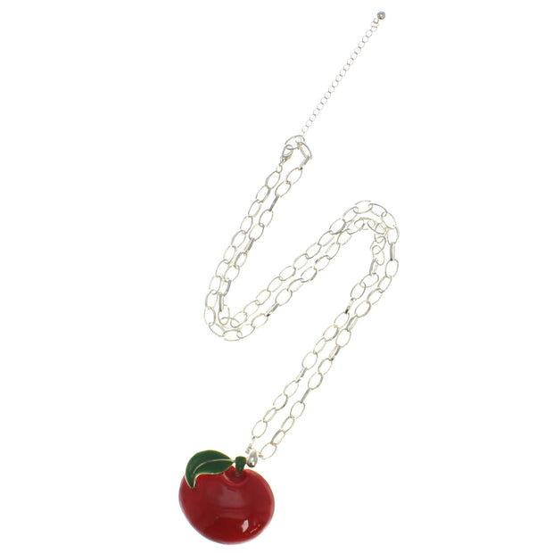 Apple Necklace on a 69cm Silver Chain (4 x 4.5cm Pendant)