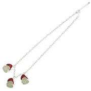 Triple Apple and Triple Half Apples Necklace on a 46cm Silver Chain (2 x 2.5cm)