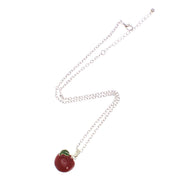 Apple Necklace on a 23.5cm Silver Chain (2 x 2cm Pendant)