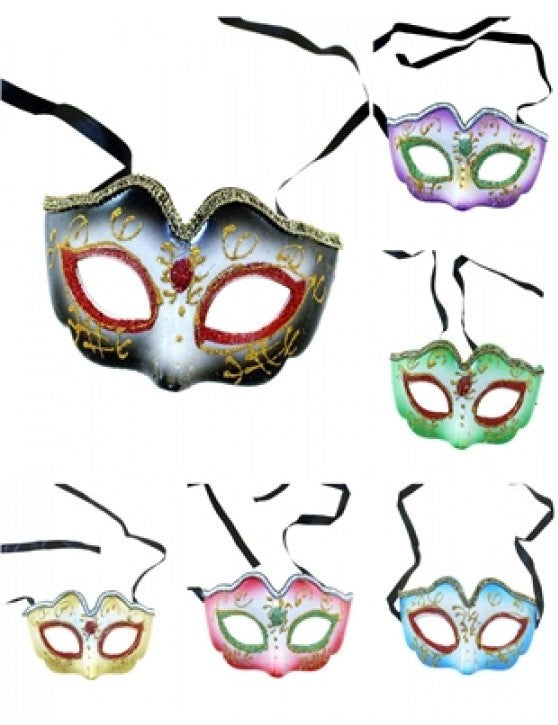 Assorted Glitter Plastic Eye Masks