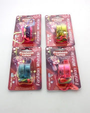 Light-up Whistles with Rainbow String, Assorted Colours