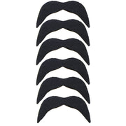 6 Black Mexican Moustache Stickers