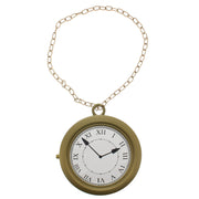 20cm Diameter Oversized Pocket Watch on Gold Chain Necklace