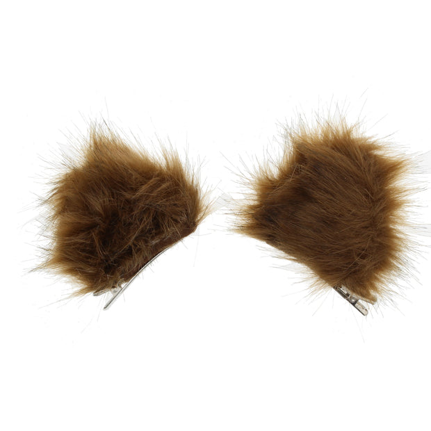 Faux Fur Animal Ear Clips