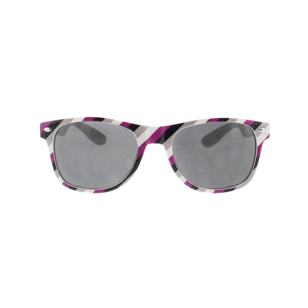 Asexual Coloured Striped Sunglasses