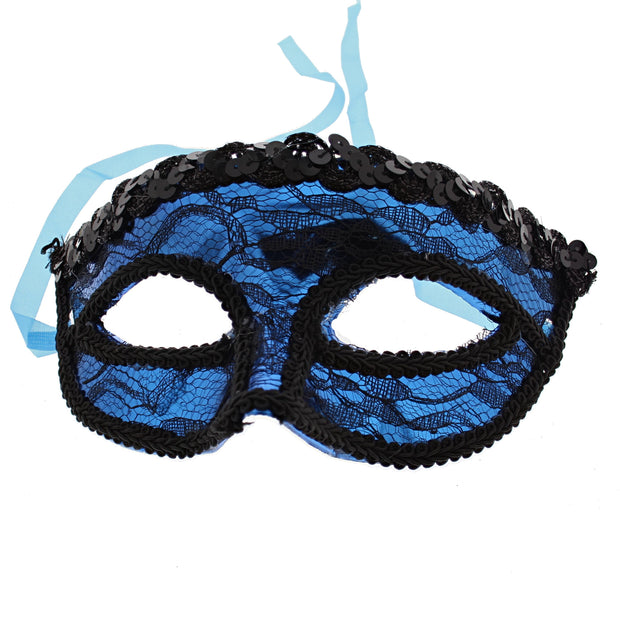 Lace Masquerade Mask with Sequin Outline
