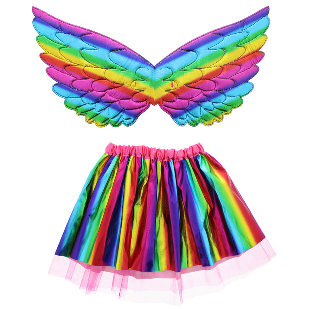 2 Piece Rainbow Fairy Angel Set