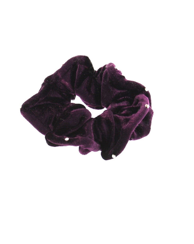 Velvet Scrunchie with Stones