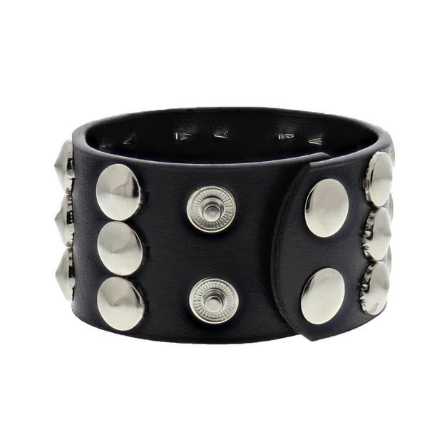 3 Row Conical Studded Bracelet