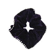 Diamante Stone Edged Velvet Scrunchie
