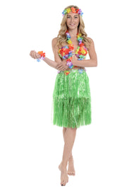 Hawaiian Set (Skirt, Headband, Necklace & 2 Armbands)