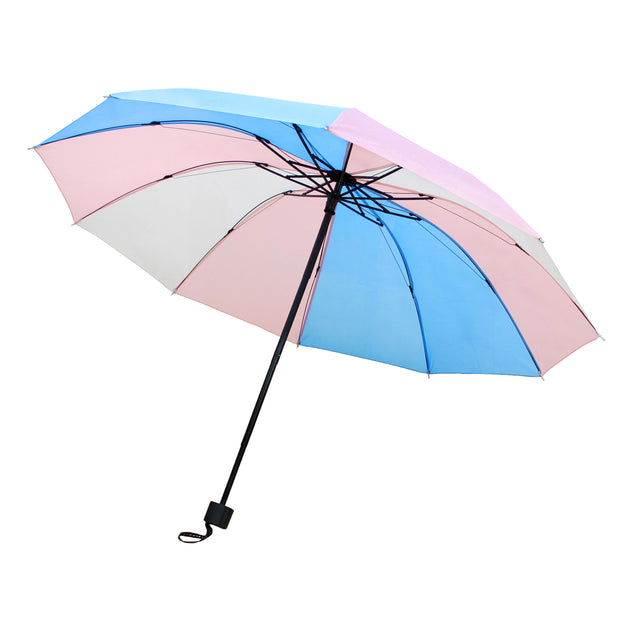 Transgender Colour Foldable Handbag Size Umbrella with Case