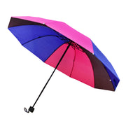 Bisexual Colour Foldable Handbag Size Umbrella with Case
