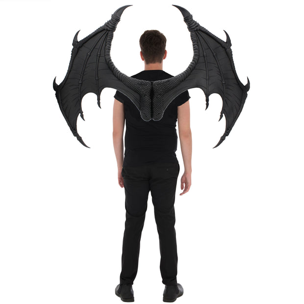 Huge Black Rubber Dragon Wings (Approx. 90cm x 110 cm)