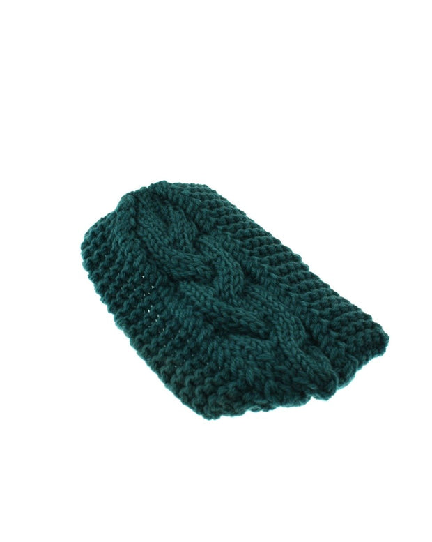 Wide Patterned Knitted Headband