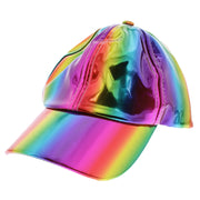 Metallic Rainbow Baker Boy Hat
