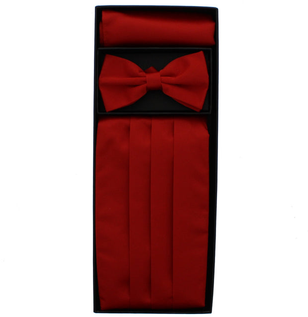 Bow Tie, Pocket Square & Cummerbund Set